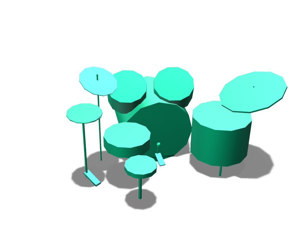 drum set - 3D design by hulk drummer Oct 21, 2017