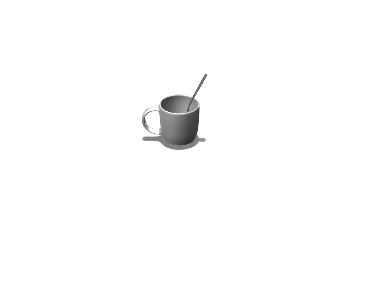 cup with a spoon - 3D design by 2024ksenberg Mar 20, 2018