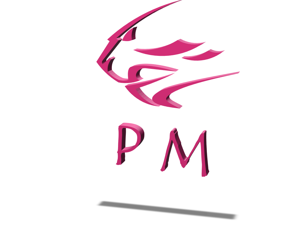 PM logo - 3D design by Chang Woo Harm on Mar 19, 2018
