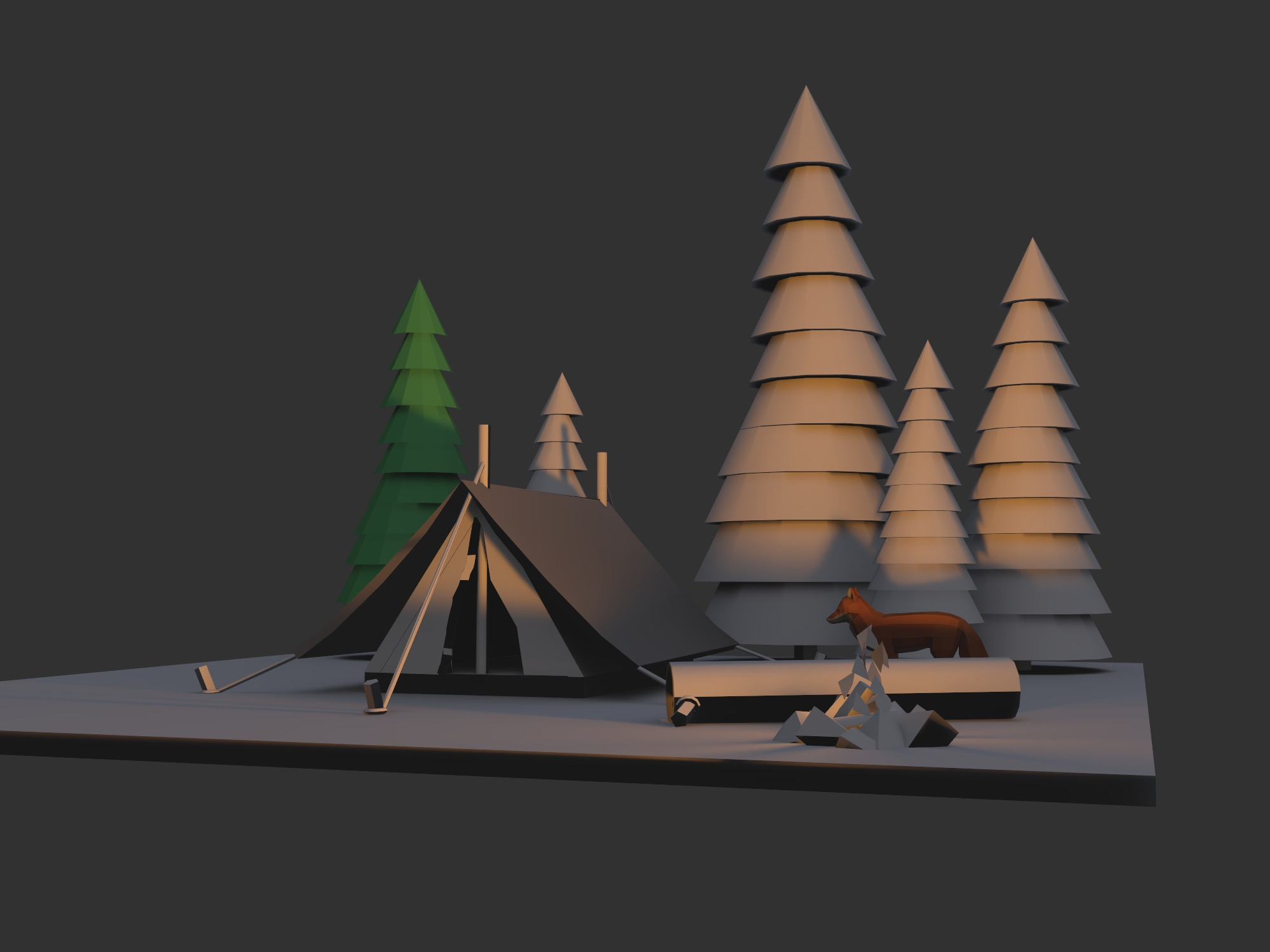 Camping - 3D design by Milan Gladiš Jun 22, 2018