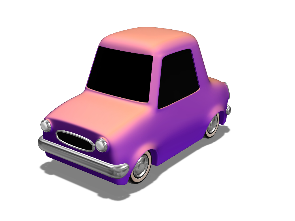 Toy car for Xmas - 3D design by VECTARY Nov 16, 2017