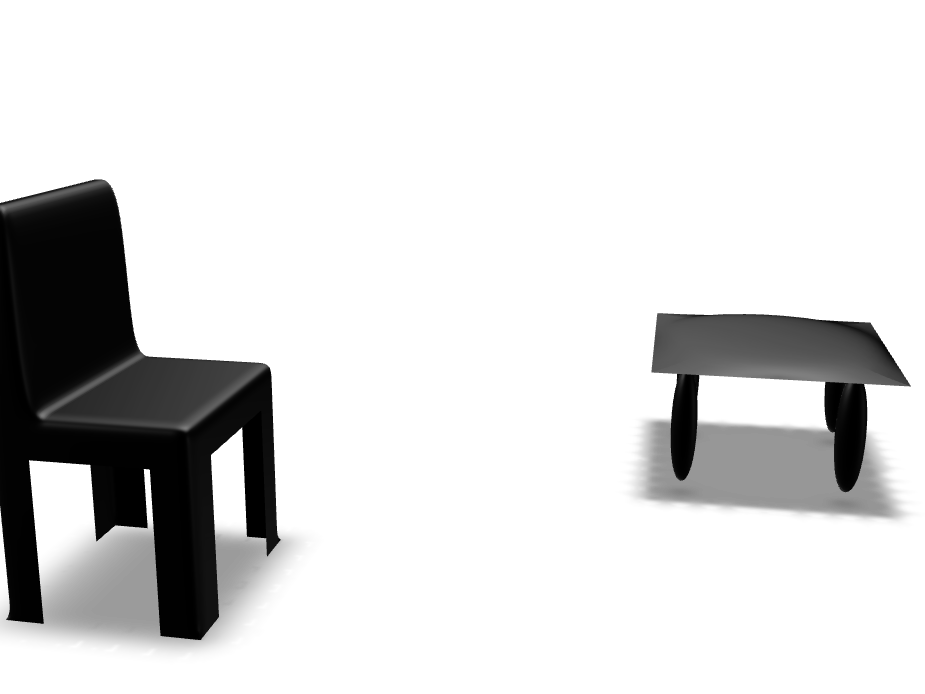 chiar and table - 3D design by jwoodcock21 Nov 10, 2017