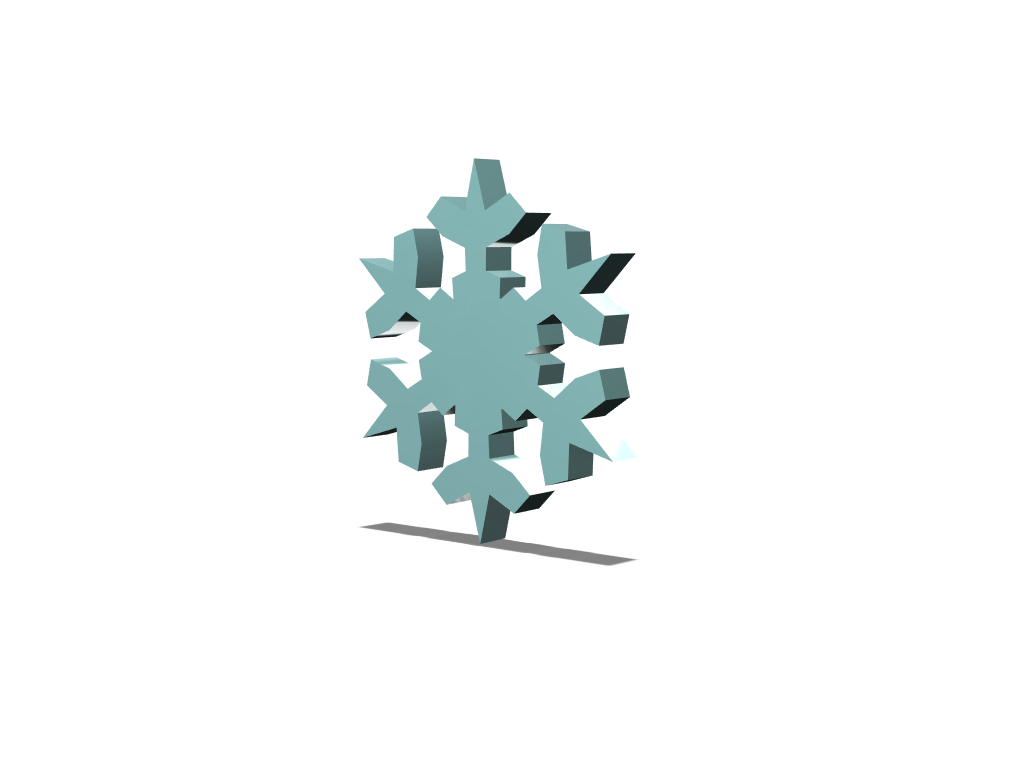 Snowflake using Snowflake generator - 3D design by kholland1255 on Feb 4, 2018