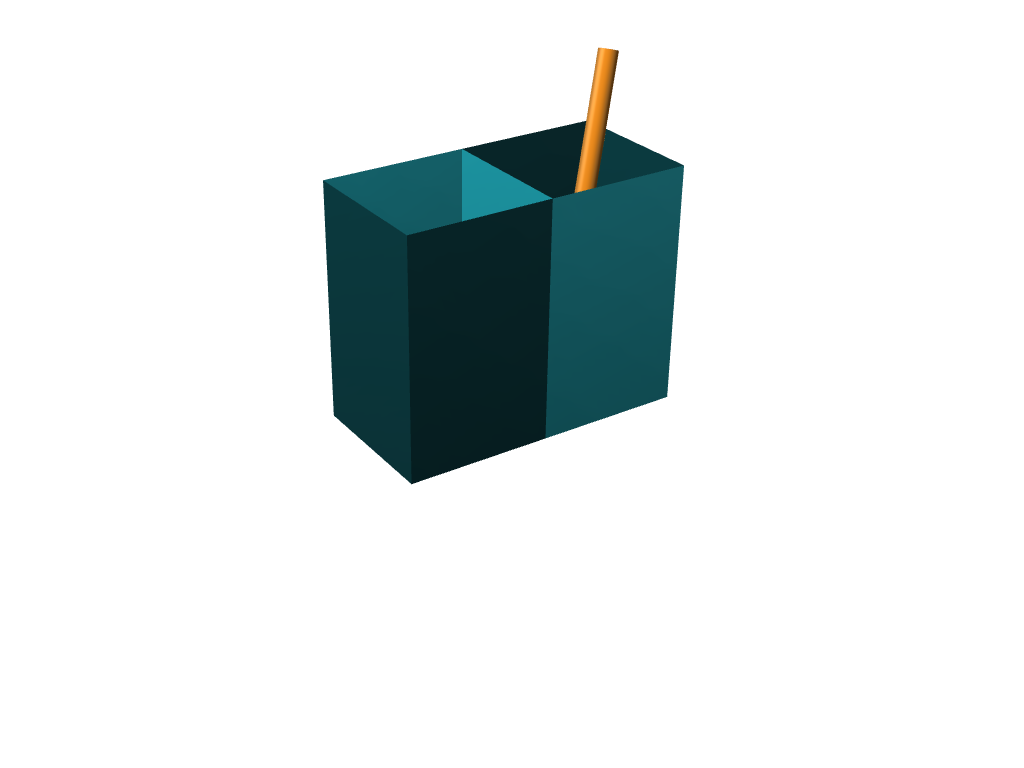 pencil and pen holder - 3D design by clairen Nov 15, 2017