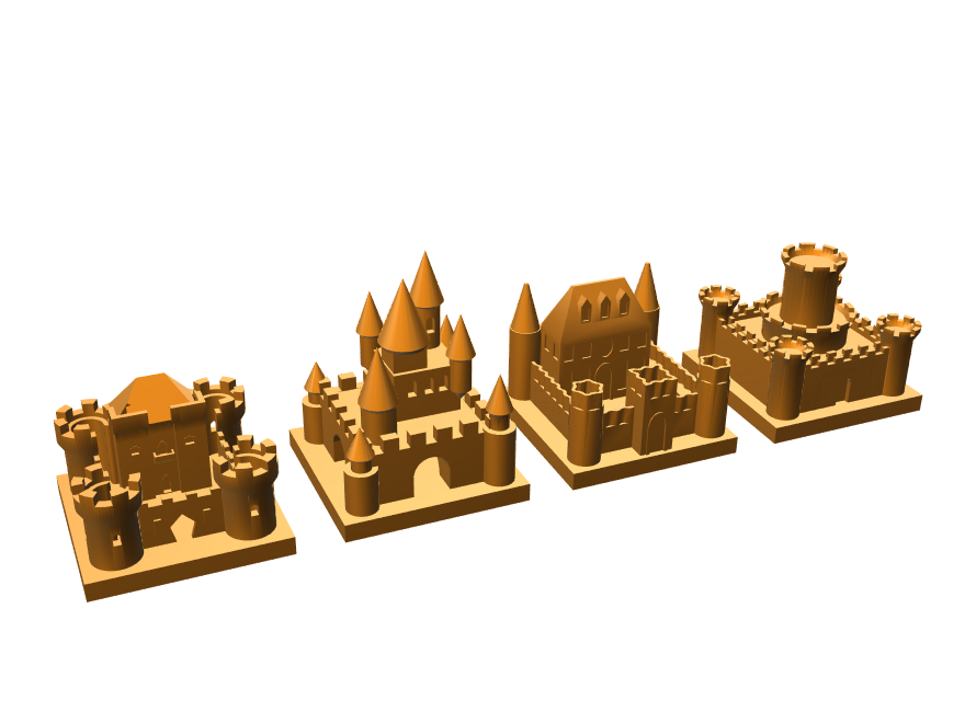 Kingdomino castles - 3D design by Mauro Reis May 13, 2018