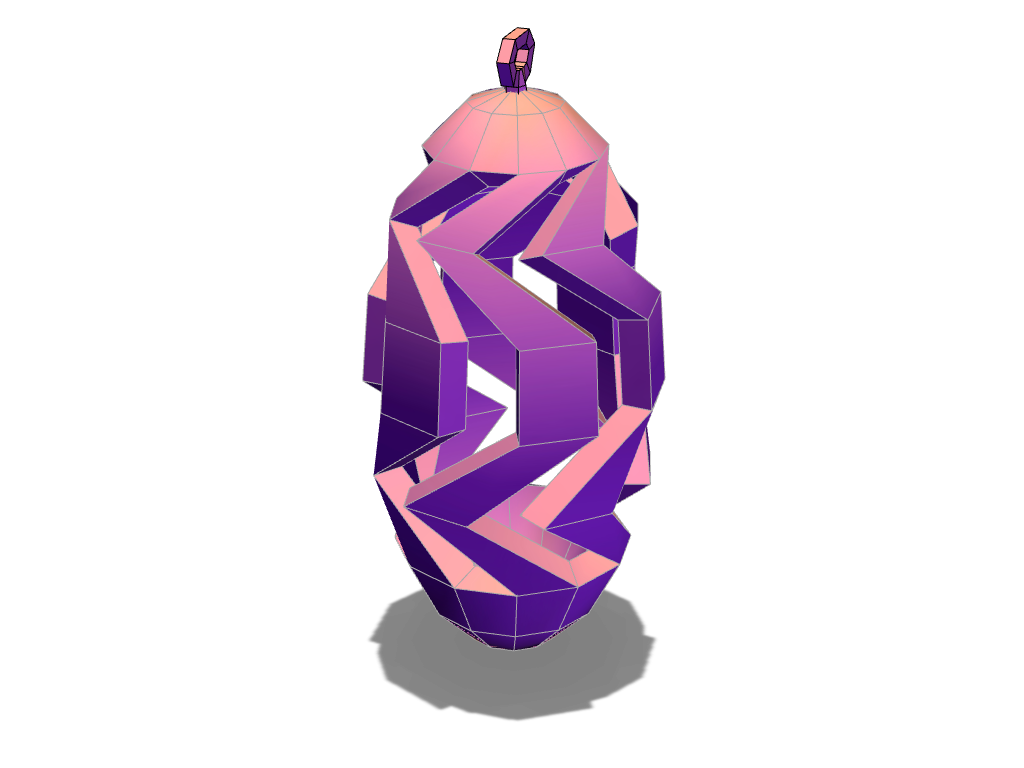 low poly spiral pinecone - 3D design by aukevandijk03 Nov 24, 2017