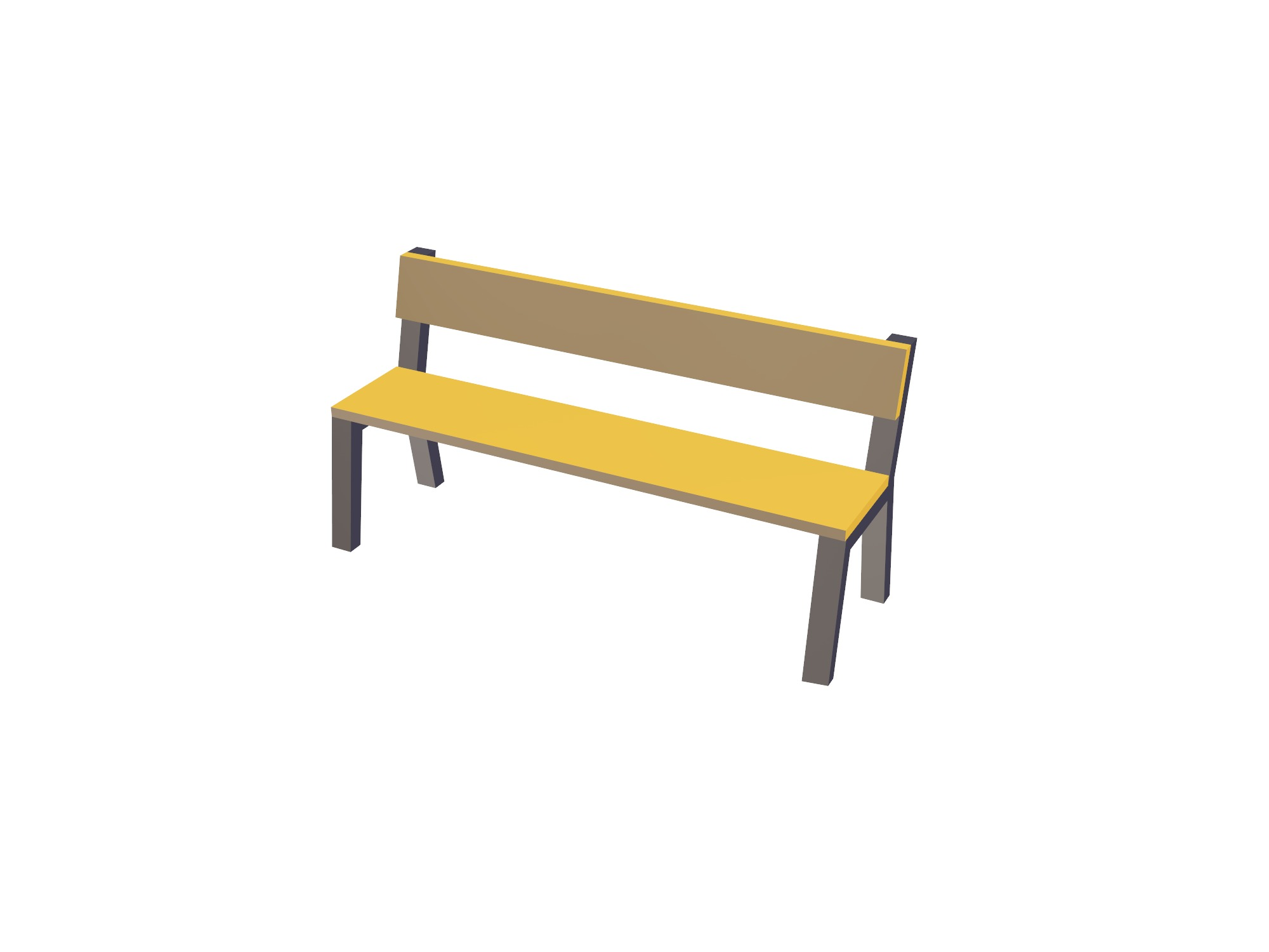 Bench - 3D design by Vectary assets Jun 3, 2018