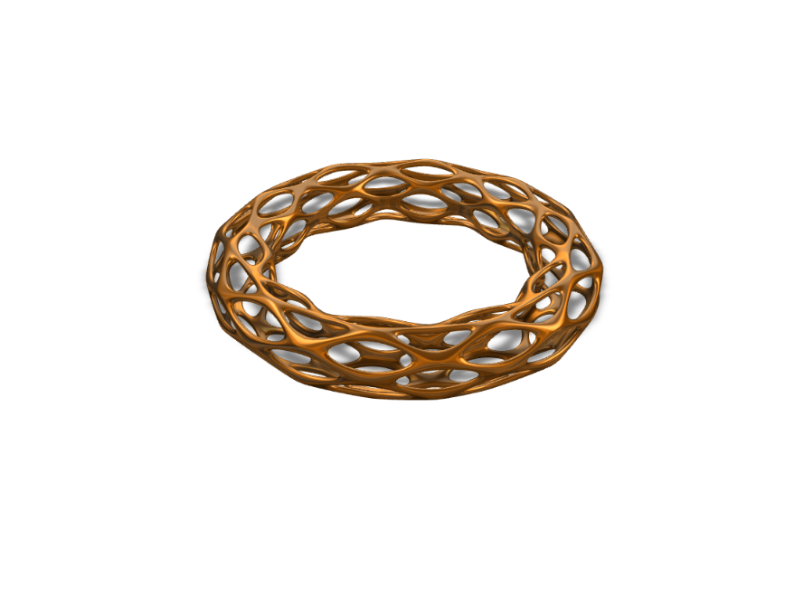 Golden Oval Ring/Bracelet - 3D design by Joey Bevilacqua Sep 25, 2017
