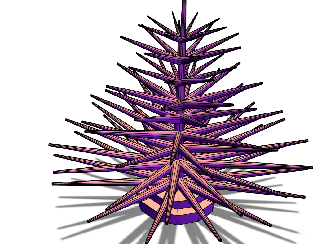 Christmas tree - 3D design by Jimmy Messer Nov 21, 2017