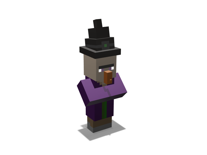 Minecraft Witch - 3D design by K.K. Studios on May 14, 2018