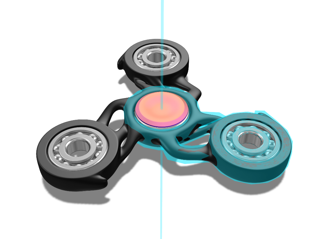 Fidget Spinner - 3D design by Andy Klement Jun 14, 2017