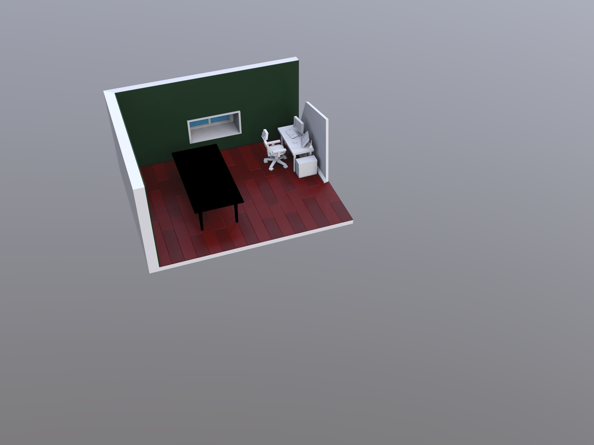 Office - 3D design by Jesse Kornaga on Dec 11, 2018