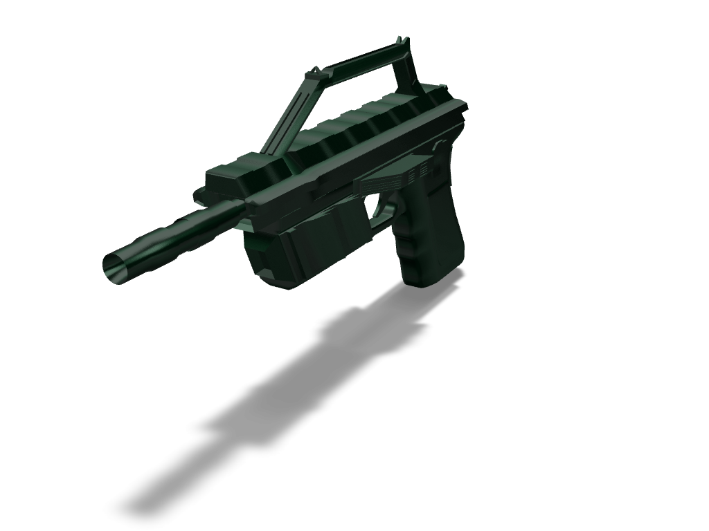 R95 sci fi pistol - 3D design by exelever 25 Sep 17, 2017