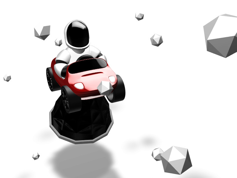 Toy: Starman riding a Tesla Roadster - 3D design by Chiara Cantù Mar 29, 2018