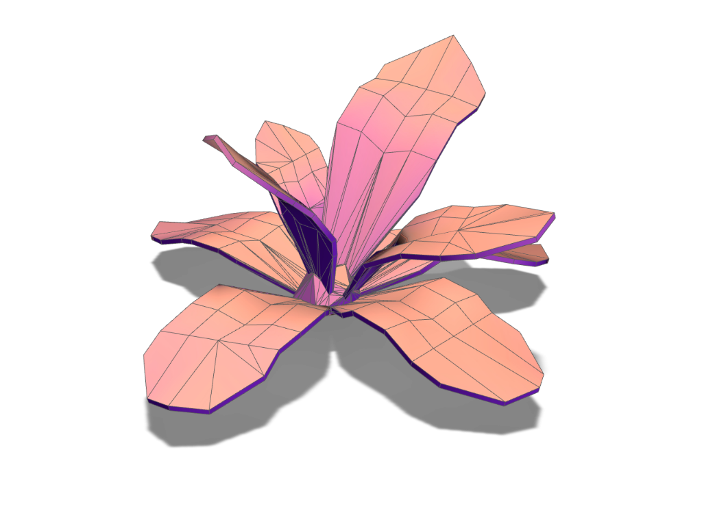 Plant 1 - thickness - 3D design by Andy Klement Jul 12, 2017