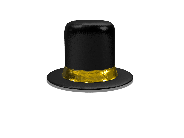 top hat - 3D design by Dylan Manion Oct 30, 2017