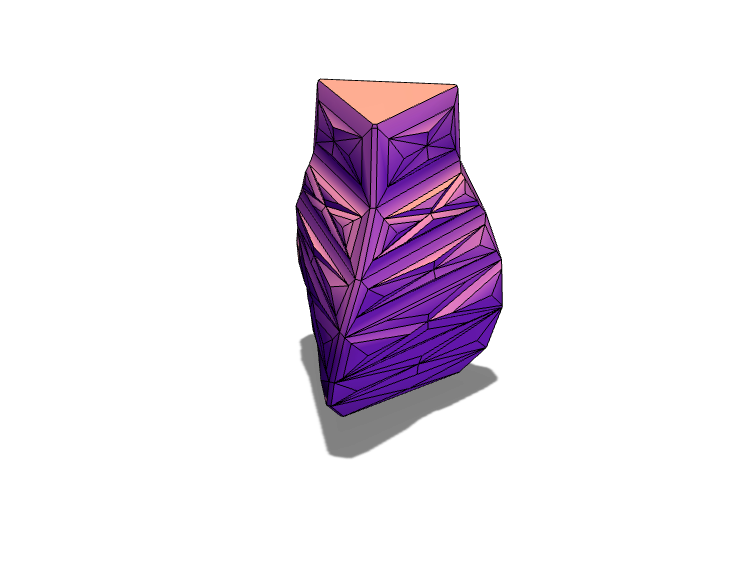 "Simple triangle ""Vase"" - 3D design by still crosshair on Aug 16, 2017"