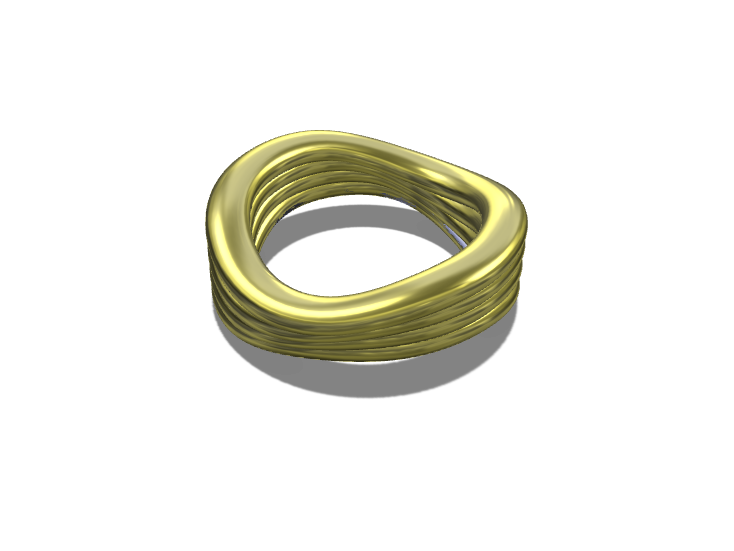 Wave Ring - 3D design by Genny Pierini on Sep 14, 2017