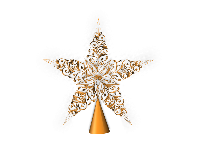 Xmas star  - 3D design by Kat Nov 18, 2017