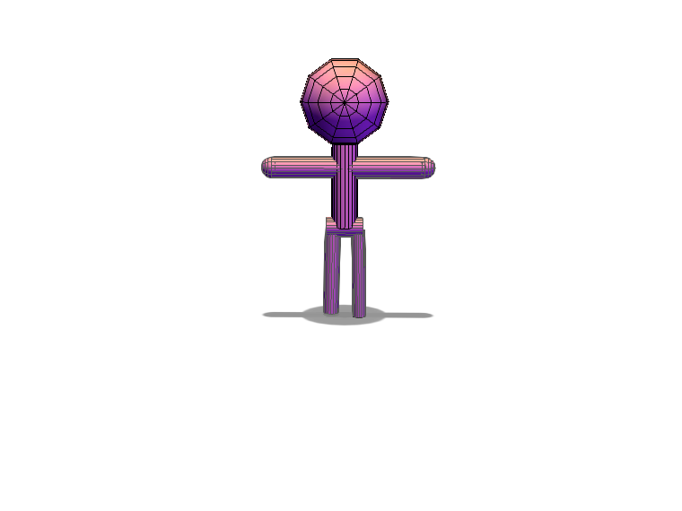 Stickman - 3D design by cwmccreary Oct 24, 2017