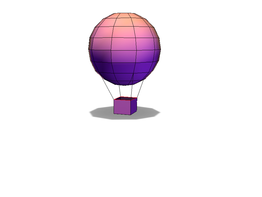 hot air balloon - 3D design by Anna Price on Jan 16, 2018