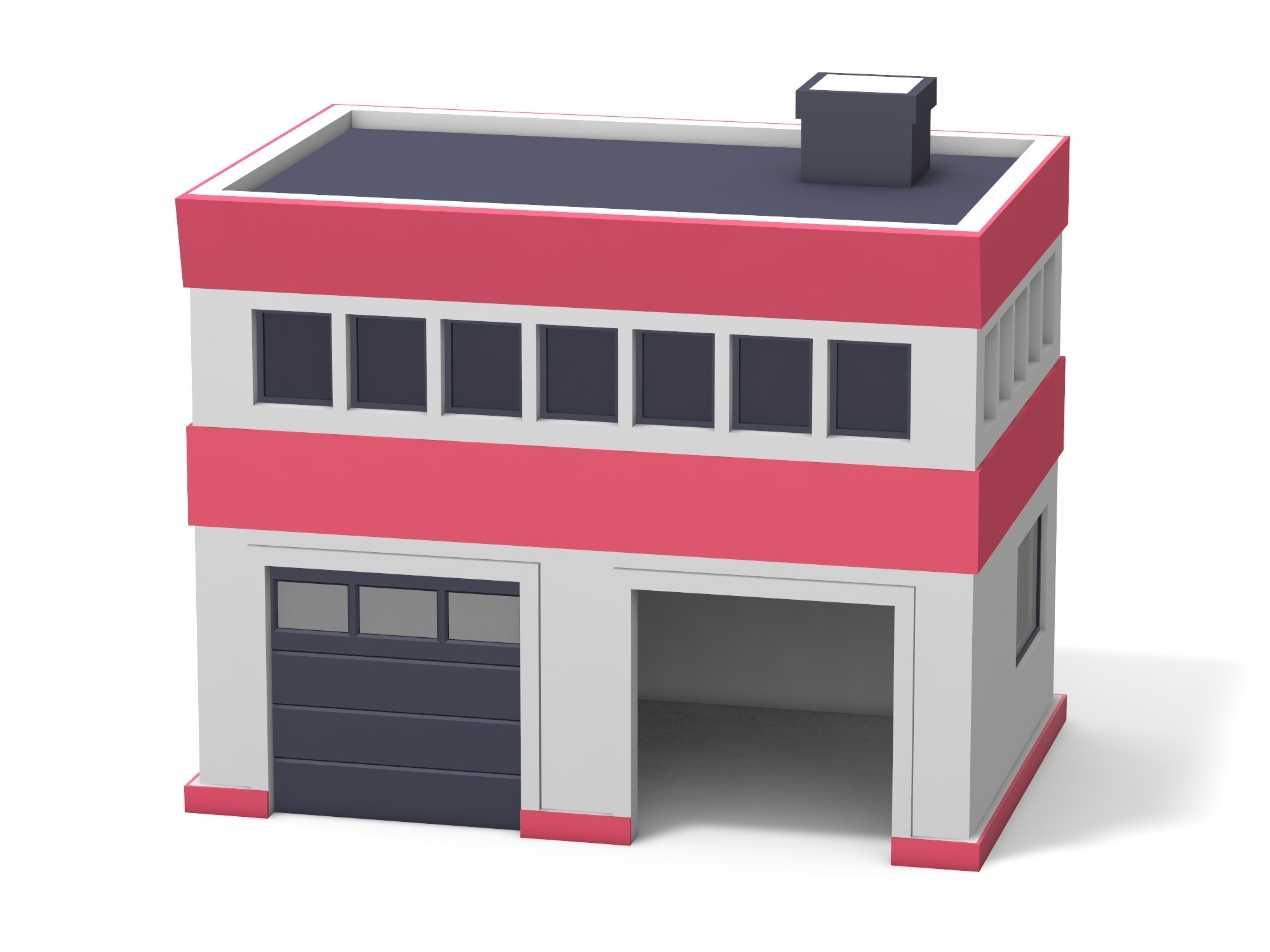 Fire station - 3D design by Vectary assets Nov 7, 2018
