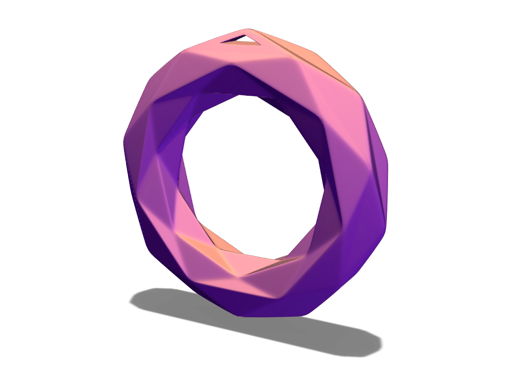 Donut bauble - 3D design by cotir Dec 18, 2017