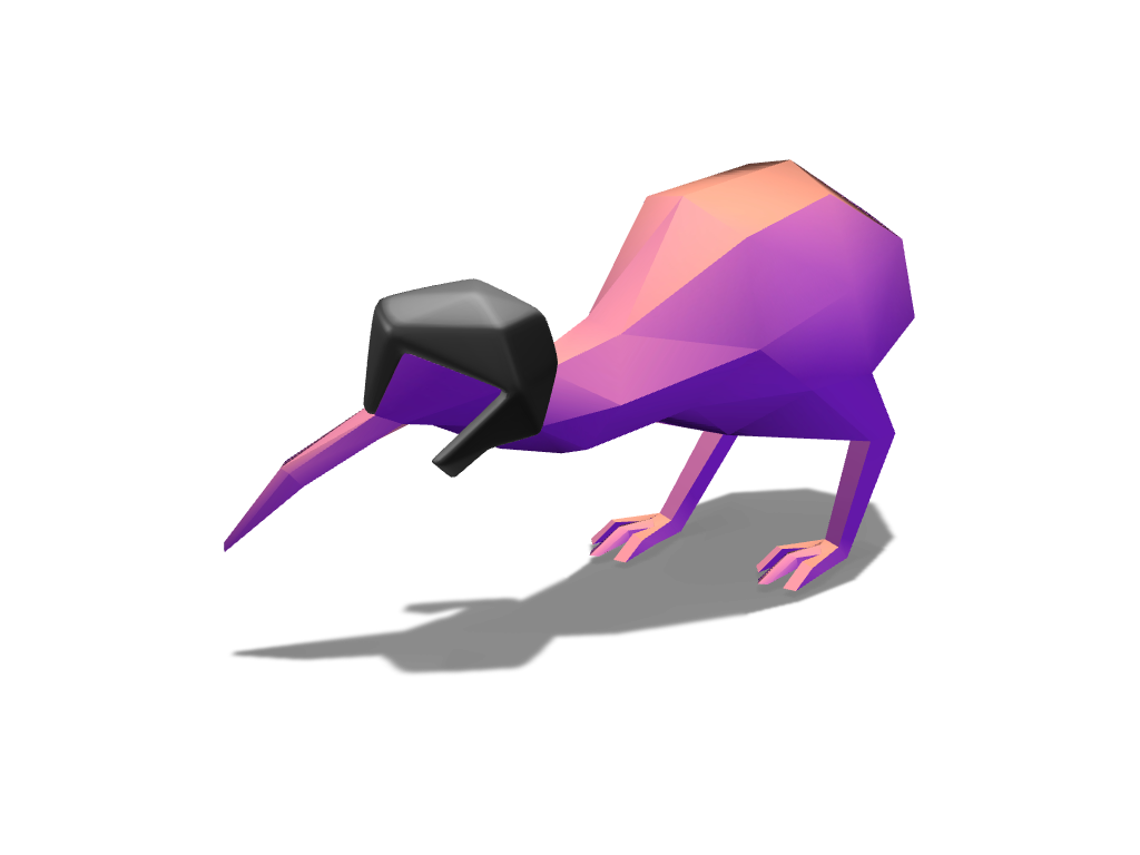 Kiwi 3 - 3D design by Johnnyal Nov 4, 2016