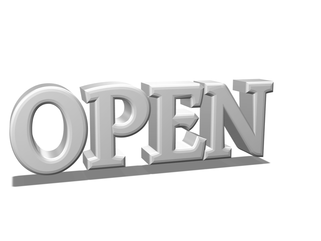 OPEN SIGN - 3D design by droythriving2700 May 24, 2018