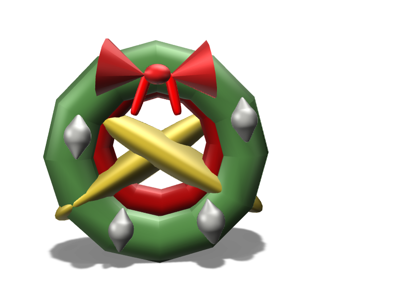 Christmas Ornament - Crown - 3D design by nosuna21 on Dec 6, 2017