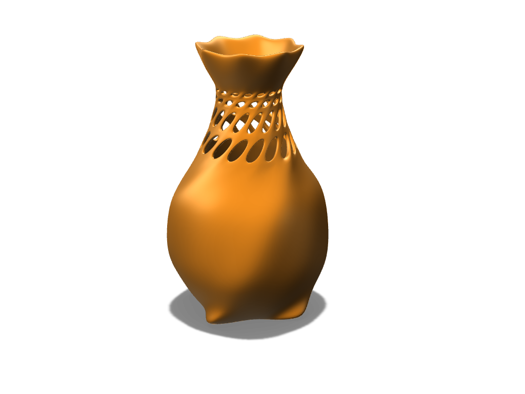 Organic Vase  - 3D design by lewmanuel on Aug 15, 2017