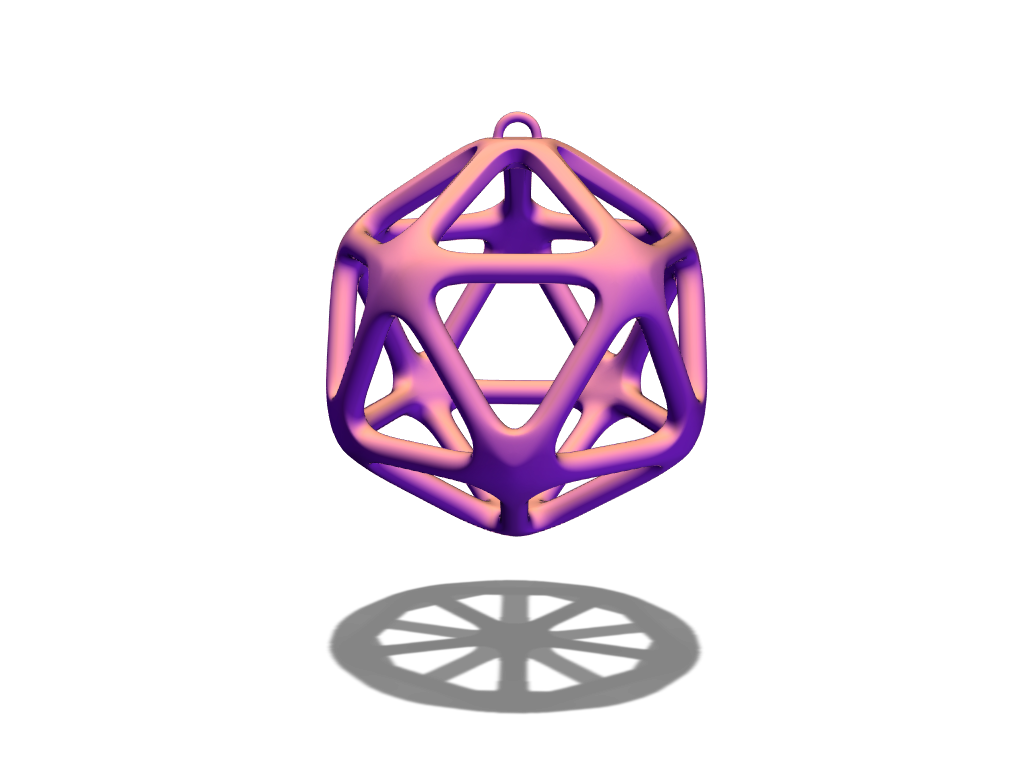 Polyhedron bauble - 3D design by duran Dec 20, 2017
