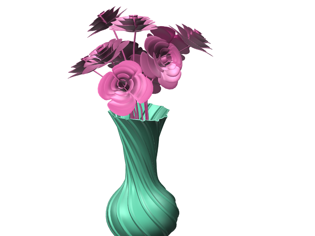 Beautiful vase - 3D design by Cookie Dough on Sep 22, 2017