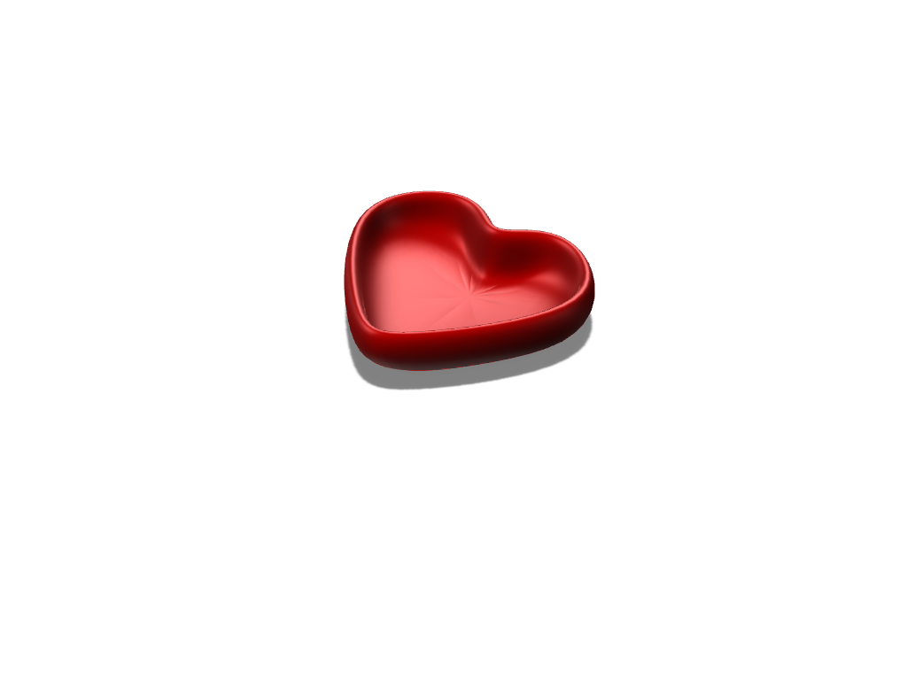 Heart bowl - 3D design by Bill13 Sep 2, 2017