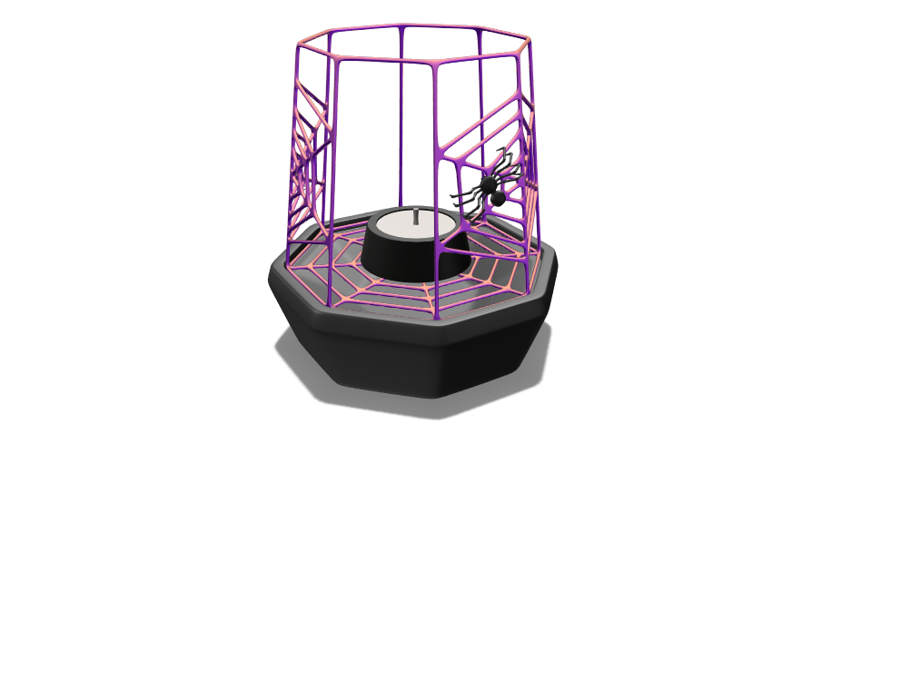 Spiderweb lantern - 3D design by Yashwanth Kumar B S Feb 28, 2018