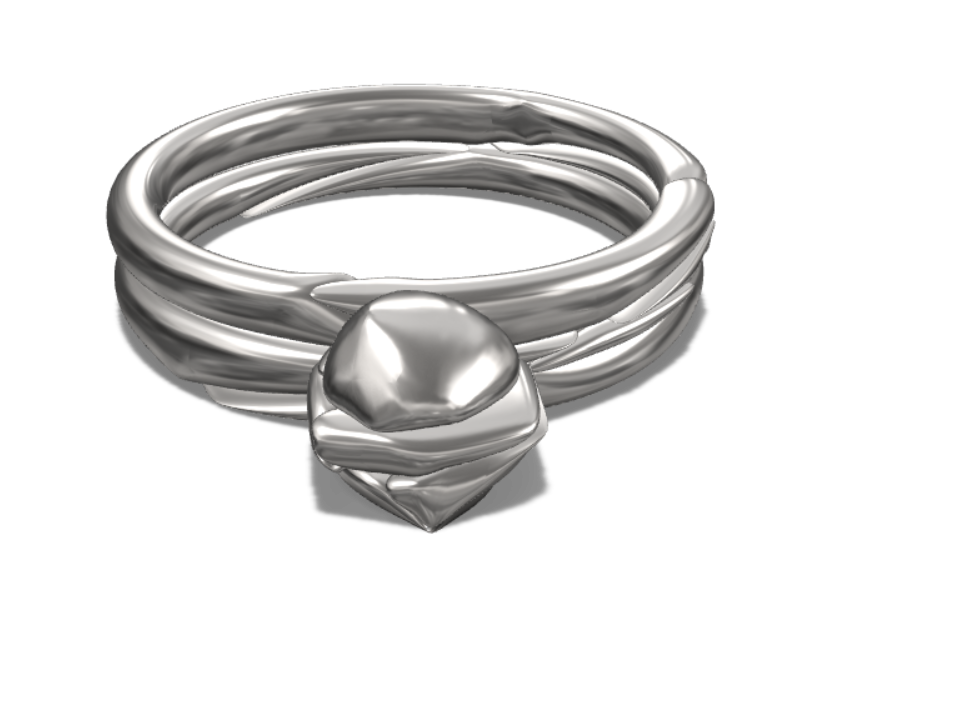 awesome ring - 3D design by Essam Tkl on Aug 15, 2017