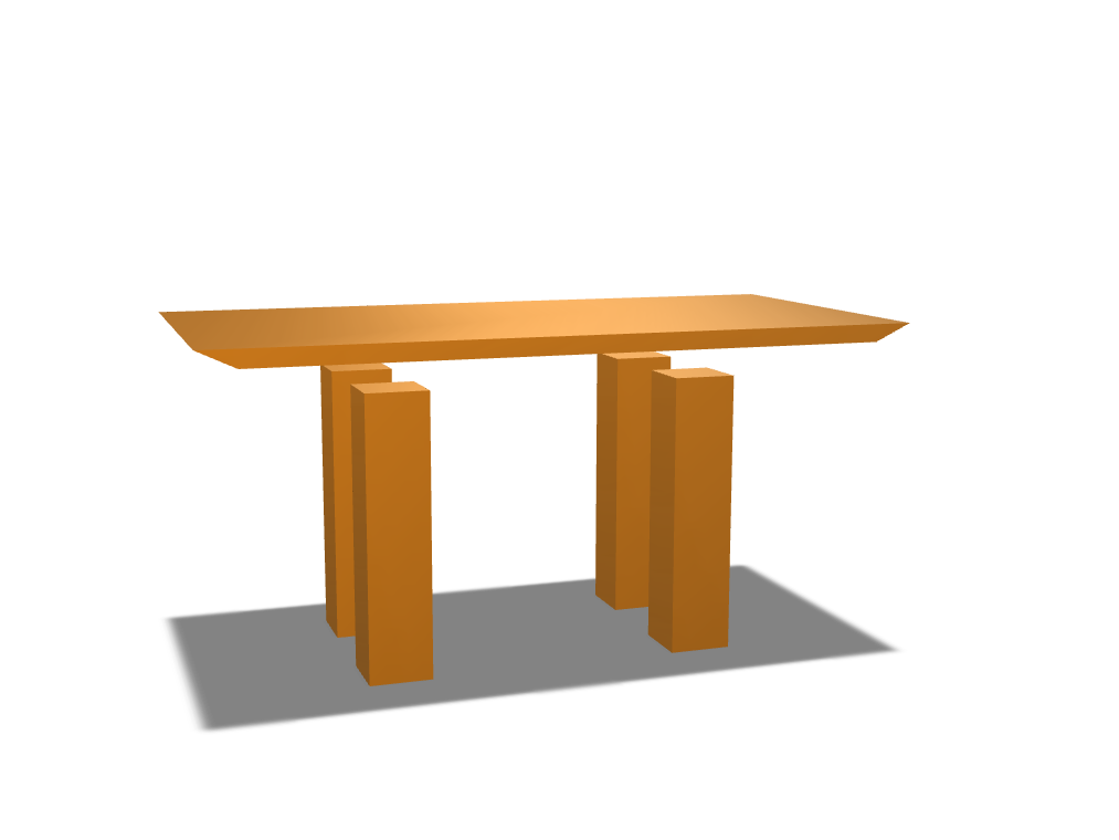 Coffee Table  - 3D design by Evan Soutter on Mar 30, 2018