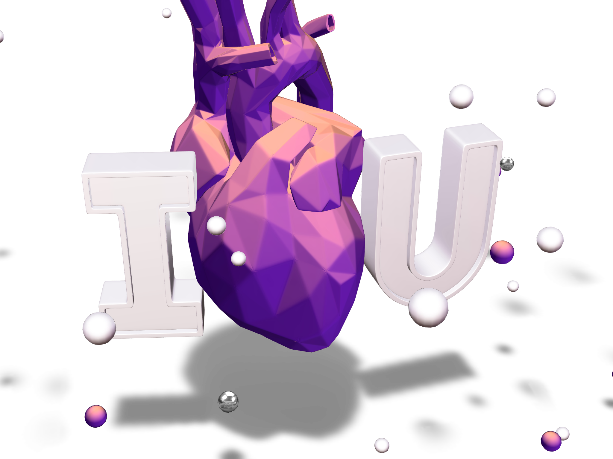 I Love U | Valentine's Day Card - 3D design by Parth Savani May 4, 2018