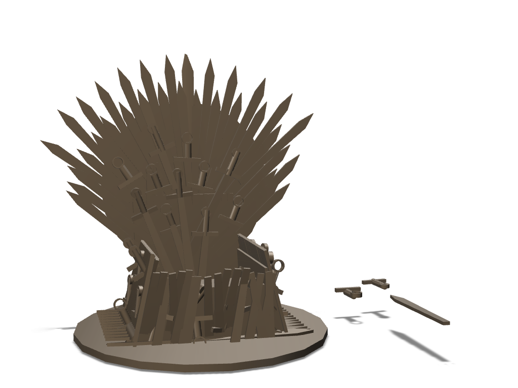 Mobile's Iron throne by Saurabh Shirolkar - 3D design by saurabh shirolkar Sep 3, 2017