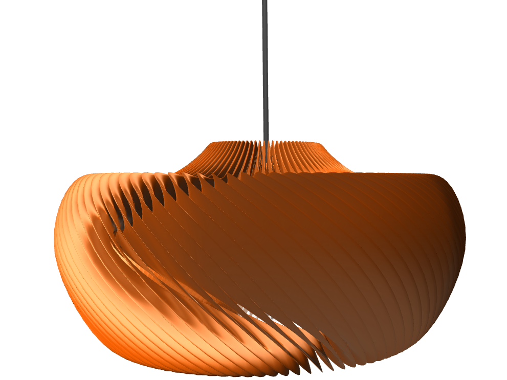 Moire Lamp - 3D design by STG Aug 30, 2016