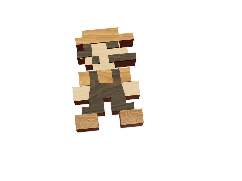 Wooden Mario - 3D design by MrLucey Jan 8, 2018