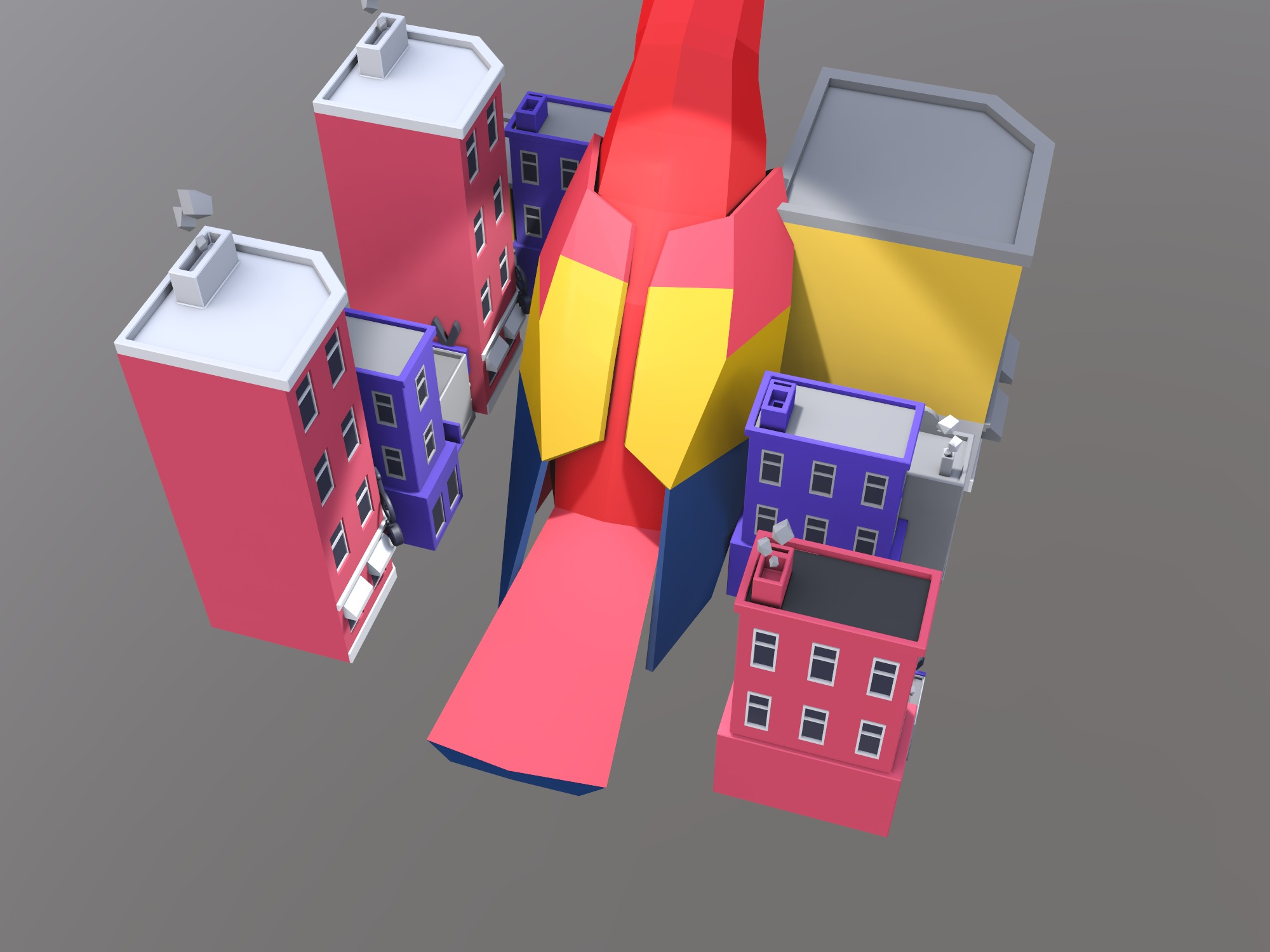Parrot Monster Roams Through City - 3D design by s642128 Oct 17, 2018