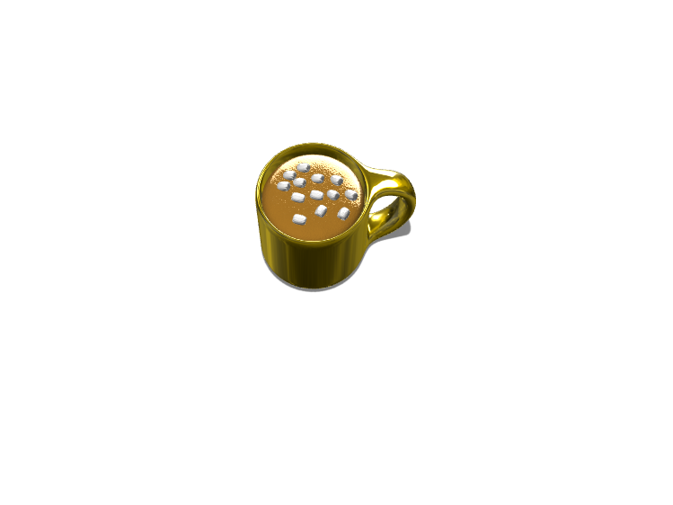 Rich cup of Hot Chocolate - 3D design by Dylan Manion on Oct 11, 2017
