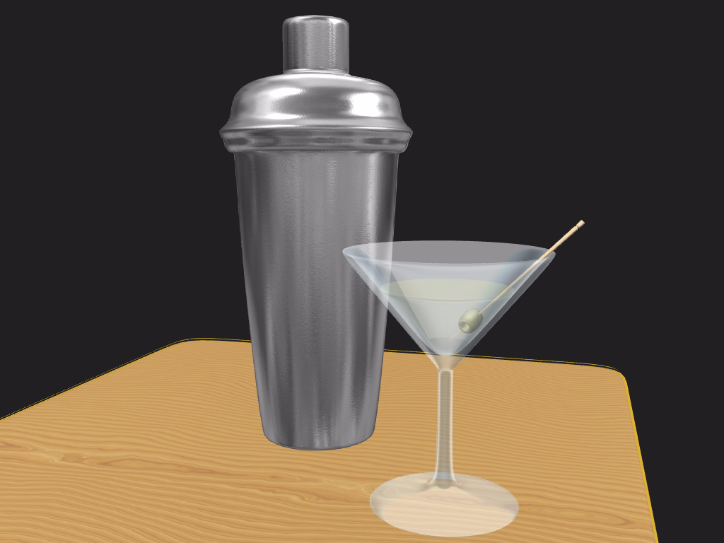Vodka Martini & Shaker - 3D design by Andy Klement Oct 7, 2016