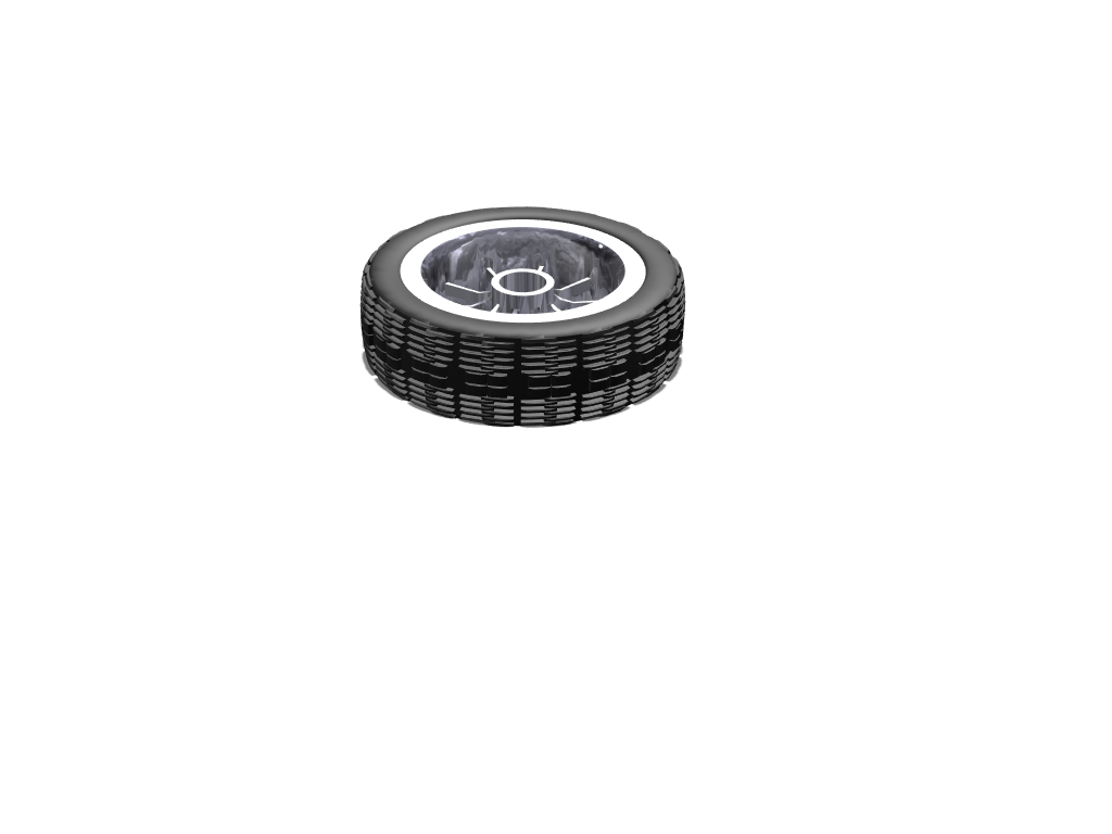 Tire test 1 - 3D design by Jason Berg on May 8, 2018