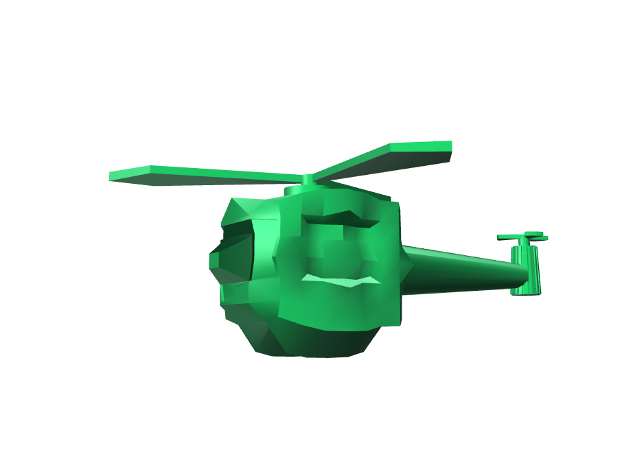 Helicopter - 3D design by Enish Pastagia Sep 8, 2017