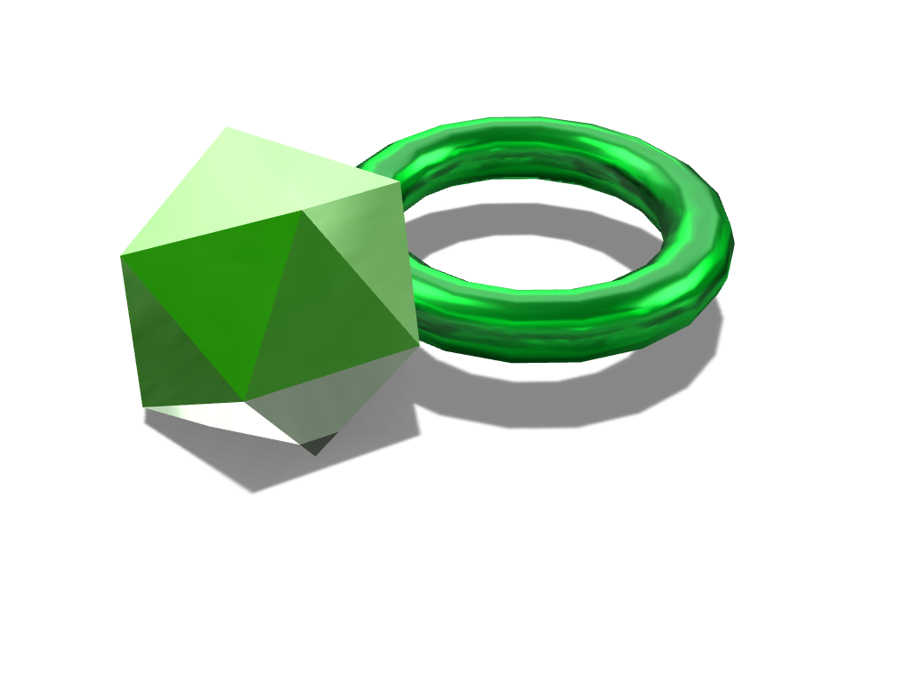 emerald ring - 3D design by ayden.cow Sep 21, 2017
