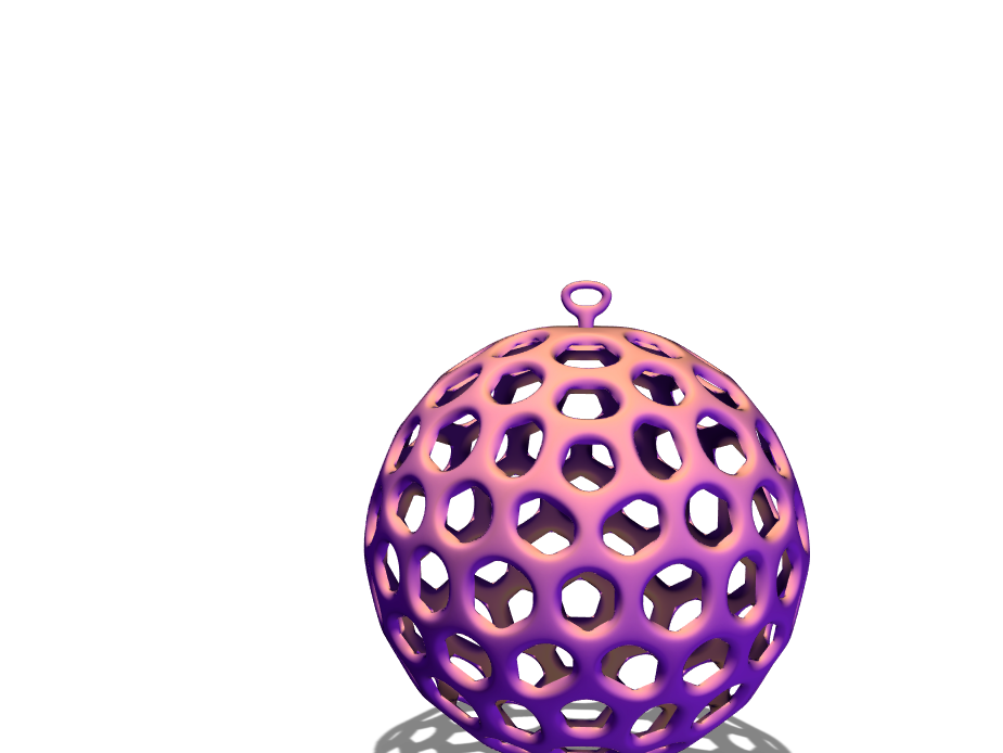 Voronoi Xmas Bauble template - 3D design by Alex Evans on Dec 19, 2017