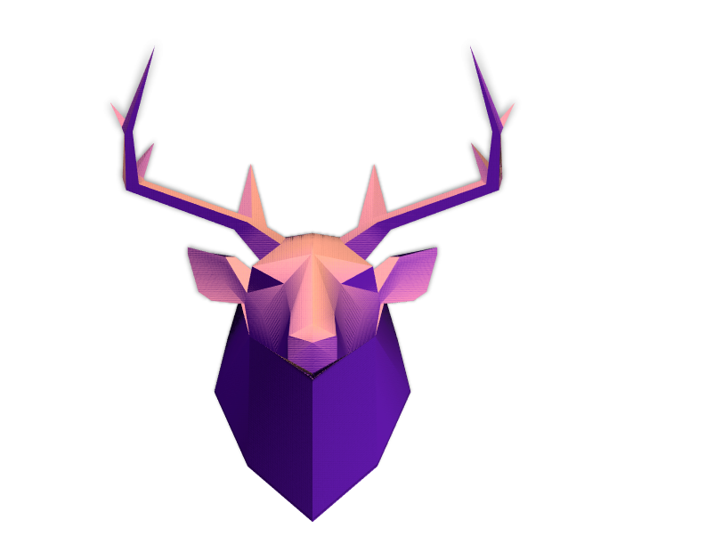Low poly head(dear) mode - 3D design by Julien  on Mar 22, 2018