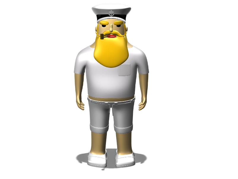 Angry Captain - 3D design by cicig0901 on May 19, 2018